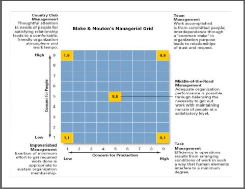 managerial grid, blake and mouton, change management,change managers,change management training
